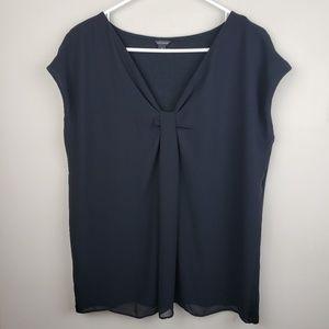Ann Taylor | Short Sleeve Black Blouse